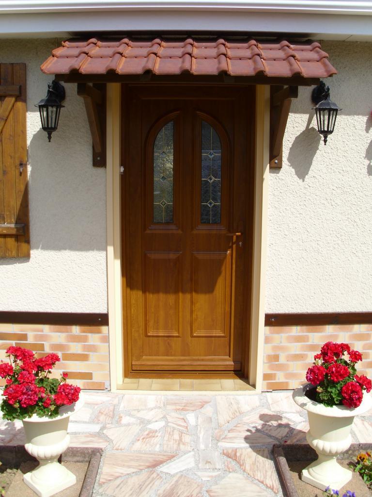 Porte en PVC chêne doré