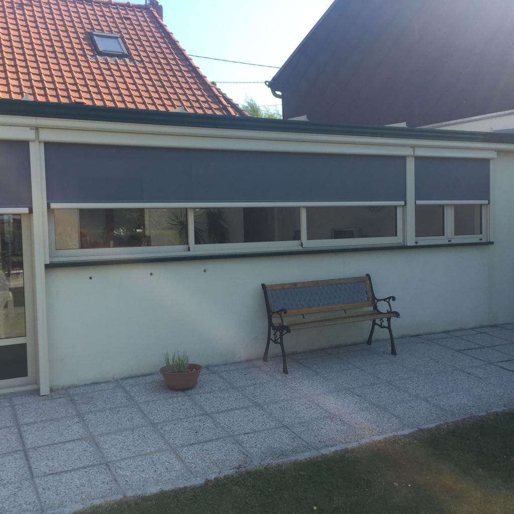 Store protection solaire et moustiquaire Motorisation SOMFY